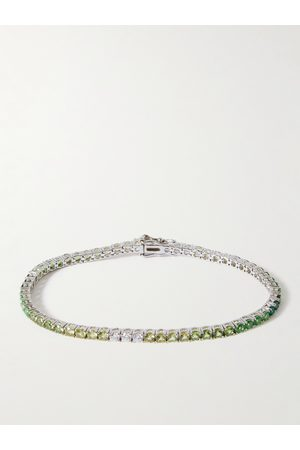 Hatton Labs Sterling Crystal Tennis Bracelet