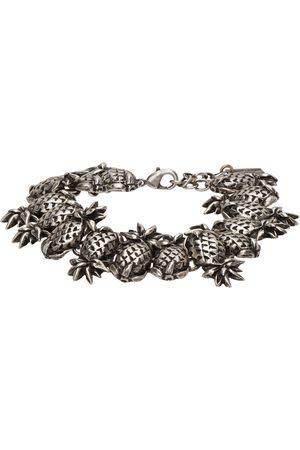 Saint Laurent Bracelet argenté Pineapple Link