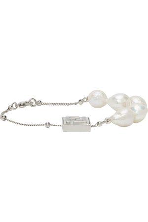 Fendi Bracelet 'Forever ' argenté à perles