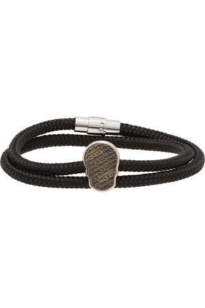 Alexander McQueen Bracelet Skull Tag noir et argenté