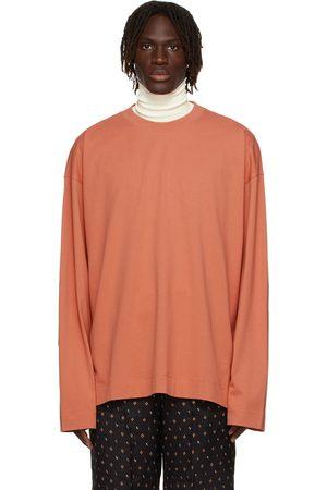 DRIES VAN NOTEN T-shirt à manches longues rose en jersey