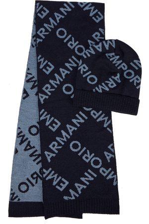 Emporio Armani Set bonnet et écharpe en laine à logo