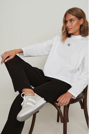 Calvin Klein Micro Monogram Loose LS Tee - White