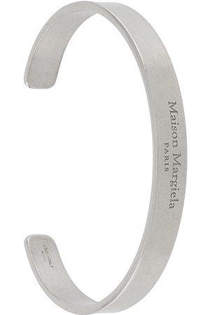 Maison Margiela Bracelet manchette à logo gravé