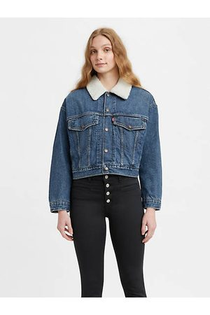 Levi's Cropped Loose Sherpa Jacket / Plant A Seed