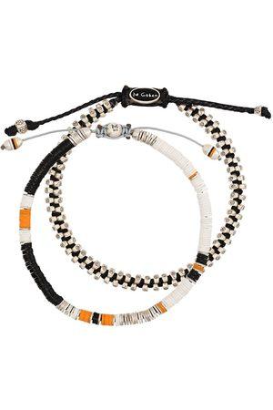M. COHEN Lot de deux bracelets à perles