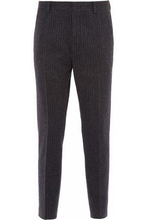 Prada Pantalon en laine à fines rayures