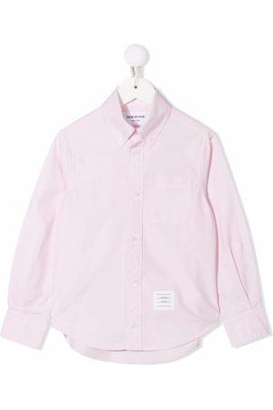 Thom Browne RWB stripe-detail button-down shirt
