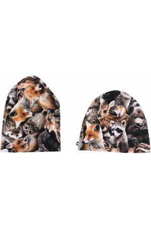 Molo Kids Garçon Chapeaux - Animal print hat set