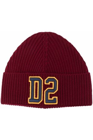 Dsquared2 Kids Embroidered logo knitted beanie