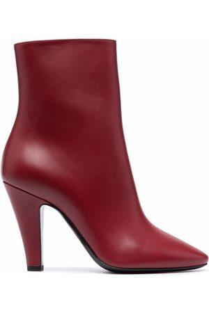 Saint Laurent Pointed toe mid-calf boots