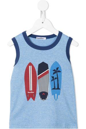 Familiar Surfboard-print cotton tank top