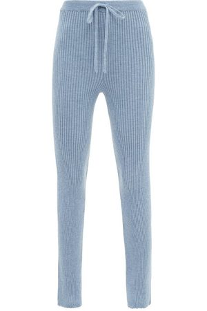 MARQUES'ALMEIDA Femme Pantalons classiques - Pantalon ajusté en laine mérinos à maille côtelée