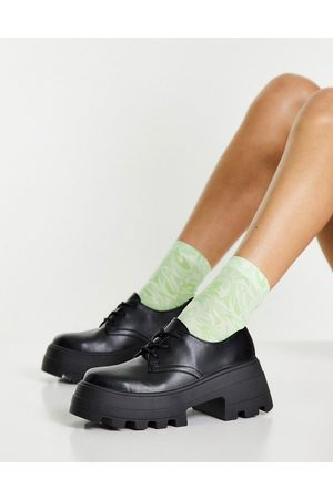 ASOS DESIGN Midnight - Chaussures plates chunky à lacets