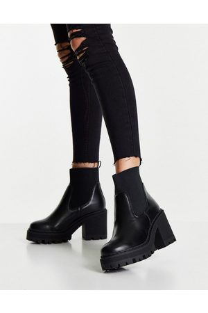 Truffle Collection Bottines Chelsea à talons chunky