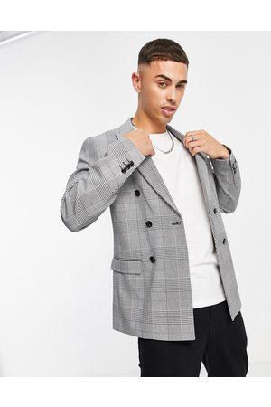 jack & jones Premium - Veste de costume croisée décontractée à carreaux classiques