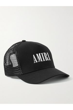 AMIRI Homme Chapeaux - Logo-Embroidered Cotton-Canvas and Mesh Trucker Hat