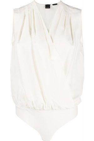 Pinko Sleeveless wrap-front bodysuit