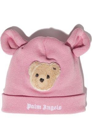 Palm Angels Kids PALM ANGELS BEAR BEANIE PINK BROWN