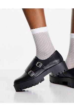 ASOS Misty - Chaussures richelieu chunky - Lézard