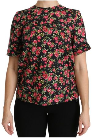 Dolce & Gabbana Roses Short Sleeve Top Blouse , Femme, Taille: 36 IT