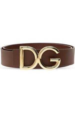Dolce & Gabbana Ceinture logo Brun, Homme, Taille: 90 cm