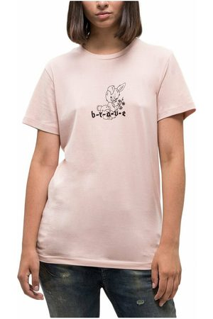 Diesel Tee shirt coton lapin brodé , Femme, Taille: XS