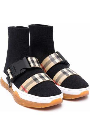 Burberry Kids Garçon Baskets - Stretch-knit sock sneakers