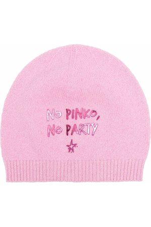 Pinko Bonnet à slogan imprimé