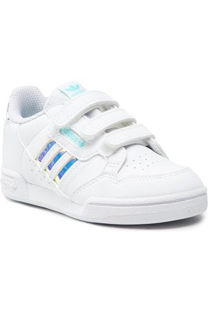 adidas Fille Chaussures basses - Chaussures - Continental 80 Stripes Cf GZ3262 Ftwwht/Stwwht/Pullaqu