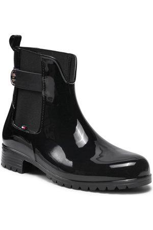 Tommy Hilfiger Bottes de pluie - Hardware Rainboot FW0FW05968 Black BDS