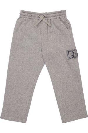 Dolce & Gabbana Pantalon De Jogging En Coton Avec Patch Logo