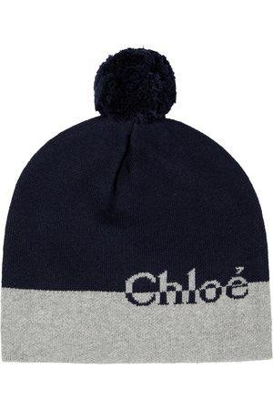 Chloé Bonnet en coton et laine à logo