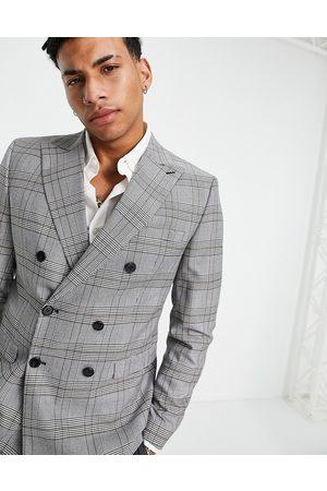 Selected Homme Veste de costume ajustée à carreaux