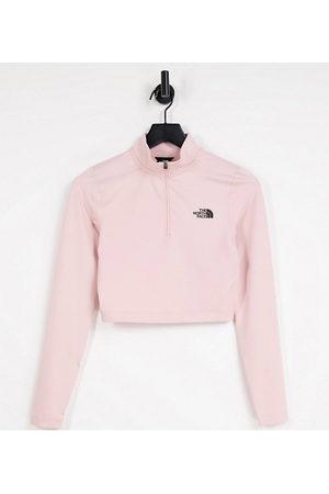 The North Face Exclusivité ASOS - - T-shirt crop top à manches longues et col zippé