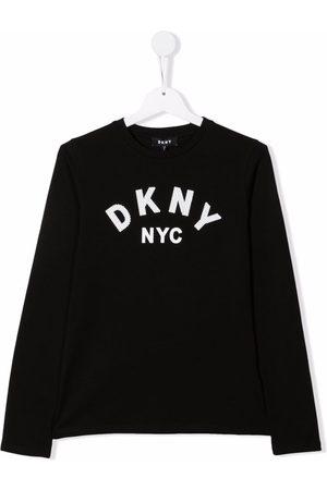 DKNY T-shirt manches-longues à logo imprimé