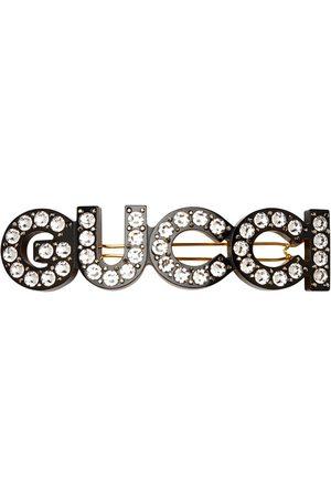 Gucci Femme Accessoires cheveux - Barrette à logo orné de cristal