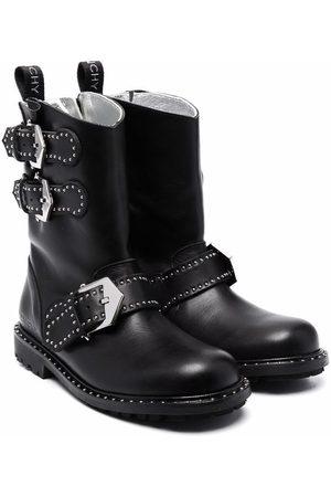 Givenchy Buckled stud-embellished boots