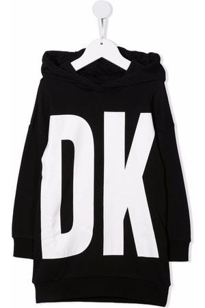 DKNY Logo-print hooded jumper dress