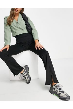 ASOS Hourglass - Pantalon skinny stretch à taille haute avec ourlet fendu sur le devant