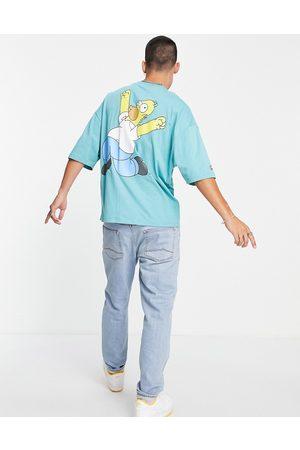 ASOS T-shirt oversize avec imprimé Homer - Bleu sarcelle