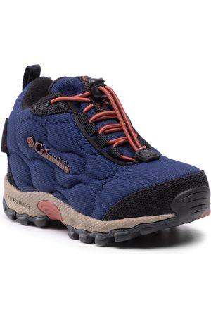 Columbia Chaussures de trekking - Childrens Firecamp Mid 2 Wp BC1201 Blue Shadow/Rusty