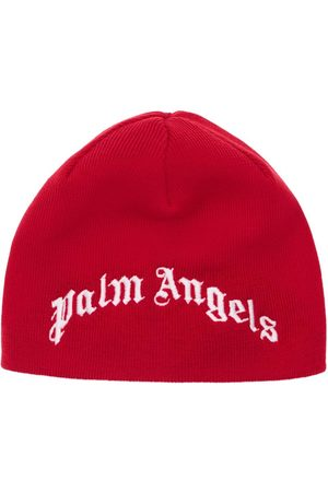Palm Angels Embroidered Logo Wool Beanie Hat