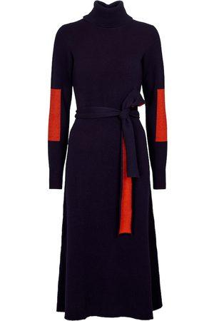 Victoria Beckham Femme Robes midi - Robe midi color block en laine mélangée