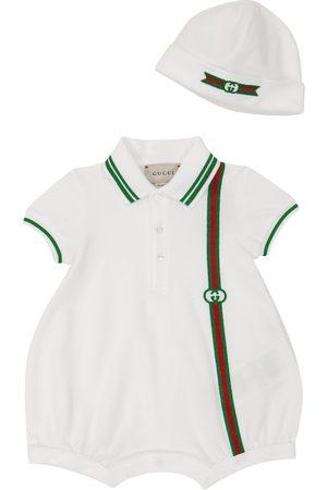 Gucci Bébé Bodys bébé - Bébé – Set barboteuse et bonnet en coton