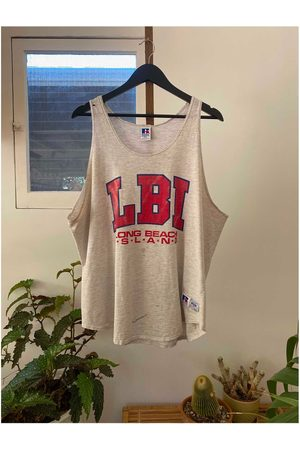 HouseOfTopanga Tank tops - Vintage 1990's Distressed Russell Athletic Tank Top, Long Beach Island, Wear, Muscle Tee, Été, Made in Usa, Vintage Clothing