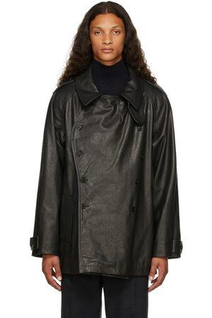 Maison Margiela Homme Vestes en cuir - Blouson Kaban noir en cuir