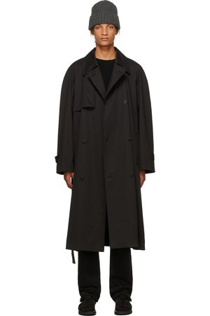 The Row Homme Trench-coats - Trench Omar noir en cachemire