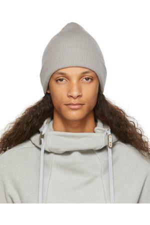 11 BY BORIS BIDJAN SABERI Homme Bonnets - Bonnet gris en maille côtelée de cachemire