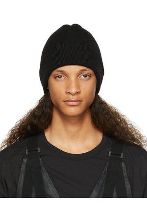 11 BY BORIS BIDJAN SABERI Homme Bonnets - Bonnet noir en maille côtelée de cachemire